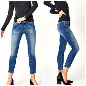 MAVI Adriana Blue Mid Rise Super Skinny Jeans